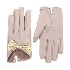 nude leather gloves!