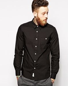 ASOS Poplin Shirt In Long Sleeve