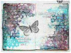 ▶ 'Learn to love' mixed media journal page by Marta Lapkowska - YouTube