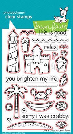 Scrapbooks by Design - Life is Good Dies, $16.80 (http://www.scrapbooksbydesign.ca/stamps/lawn-fawn/life-is-good-dies/)