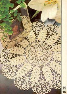 "Photo from album """"Decorative crochet"" on Yandex. Crochet Diagram, Filet Crochet, Crochet Patterns, Magazine Crochet, Crochet Dollies, Book And Magazine, Crochet Books, Pattern Books, Vintage Crochet"