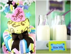 Super sweet sixteen birthday party with a super star theme.