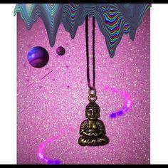 BudDha nAklaC✨ Hand made black necklace with a Buddha charm 2 keep u in good handz Moongypsy Jewelry Necklaces