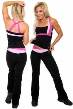 Black and Pink Workout Outfit
