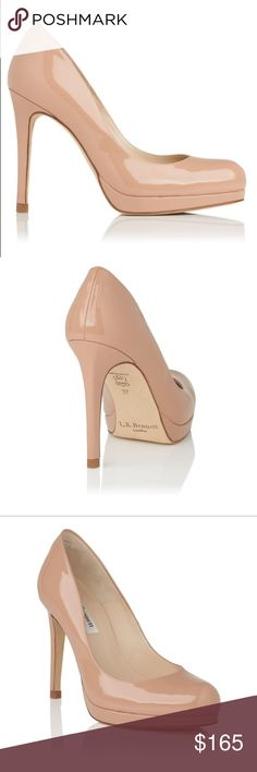 "NEW LK Bennett nude sledge pumps Brand new without box never worn. The classic Sledge pumps in nude patent leather made popular by kate Middleton. Sledge will add instant shine to work wear staples and party-ready looks alike. Set on a sleek stiletto heel with a wedged platform, this signature style returns for SS17 in versatile natural patent leather. Let it take you from desk to drinks, and beyond. 4"" heel. Size 40, which is a US 9.5"". Price pretty firm!! LK Bennett Shoes Heels"