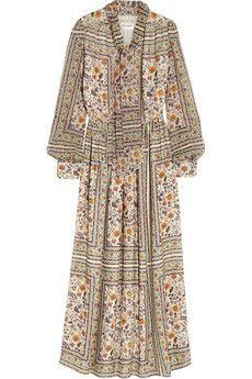 Saint Laurent Printed silk-chiffon dress | NET-A-PORTER