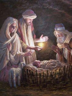 The birth of Christ Jesus Jon McNaughton Christmas Jesus, Christmas Scenes, Christmas Nativity, A Christmas Story, Religious Paintings, Religious Art, Lucas 2, Image Jesus, Pictures Of Jesus Christ