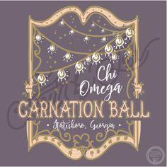 Chi Omega   Chi O   Carnation Ball   Statesboro Georgia   Formal T-Shirt Design…