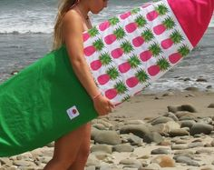 Pineapple Canvas Surfboard Bag Sleeve Surf by SunkissedCollector