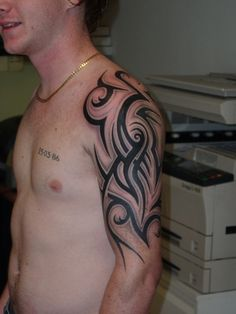 tribal tattoos half sleeve Pics No #1 visit http://likethistattoos.com/post/tribal+tattoos+half+sleeve For More Pics