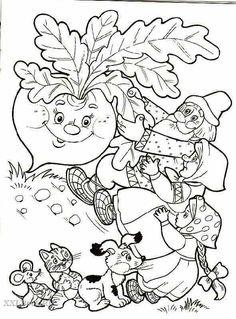 Színezés Repka - For Óvoda Coloring For Kids, Coloring Pages For Kids, Coloring Sheets, Adult Coloring, Coloring Books, Art Drawings For Kids, Art For Kids, Crafts For Kids, Conte