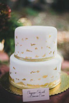 Gold leaf cake: http://www.stylemepretty.com/california-weddings/san-luis-obispo/2014/06/06/thoughtful-rustic-diy-wedding/ | Photography: Studio Castillero -  http://studiocastillero.com/