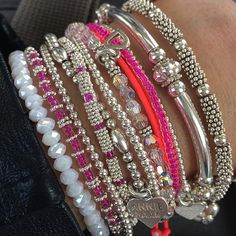 It's a pink arm candy party! #StackWithAnniehaak #AnnieHaakSS15