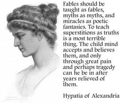 Hypatia of Alexandria  surrounded by zealots of every description and still a free-thinker.
