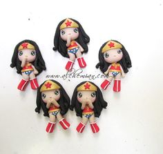Chibi Wonder Woman ooak necklace made in italy by AlchemianShop, €30.00