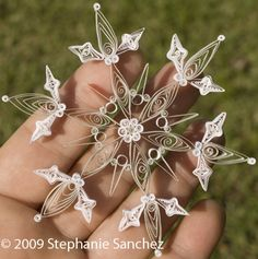 quilled paper snowflake