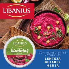 ¡NUEVO Veggie Hummus Betabel! #ConIngredientesNaturales #Vegetales #Semillas #SinSaborizantesNiColorantes Hummus, Acai Bowl, Salsa, Veggies, Breakfast, Ethnic Recipes, Food, Beetroot, Vegetable Recipes