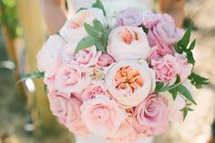 #Pink #Bouquet | See the wedding on #SMP Weddings: http://www.stylemepretty.com/2013/12/09/saddlerock-ranch-wedding Vis Photography