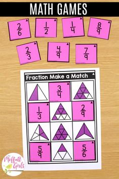 Fractions can be so much fun to practice in Grade. By this grade level, students should be well acquainted with simple fractions, and they can 3rd Grade Fractions, Third Grade Math, Math Fractions, Grade 2, Fun Math, Math Games, Fraction Word Problems, Core Learning, Daily Lesson Plan