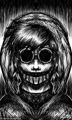 Gonna draw more creepy creepypasta to even out all the past cute cp deviations from before. Creepy Drawings, Dark Art Drawings, Drawing Sketches, Creepypasta Proxy, Creepypasta Characters, Arte Horror, Horror Art, Creepypastas Ticci Toby, Creepy Art