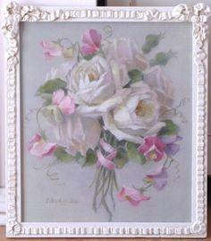 """Sweet Sentiments"" in antique frame after C.Klien~ C.Repasy"