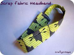 diy headband, tutorials, sewing projects, crafti critiqu, craft idea, project runway, fabric headband, scrap fabric, headbands