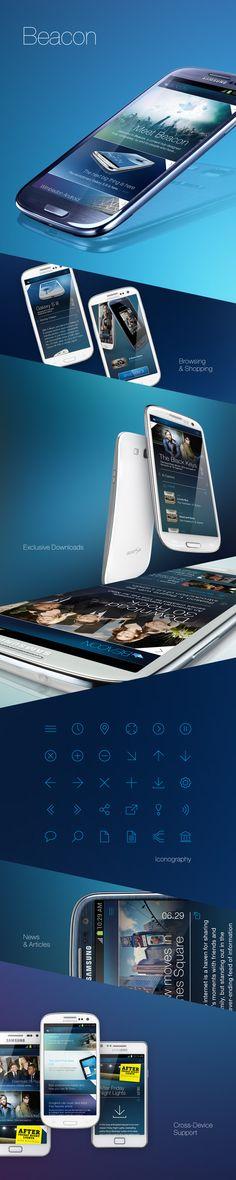 Beacon   Razorfish #mobiledesign #responsive #galaxysiii