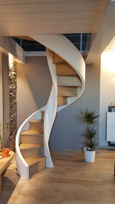 Spiral Stairs Design, Spiral Staircase, Staircase Design, Staircase Railings, Modern Staircase, Stairways, Stairs Architecture, Architecture Design, Home Engineering