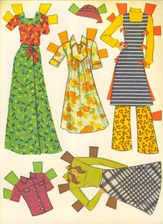 toys Paper dolls were my favorite toy as a kid. Making clothes for them was so fun!mcalls magazine had betsy maccall.and every edition had a new set of clothes. My Childhood Memories, Childhood Toys, Sweet Memories, Barbie Paper Dolls, Vintage Paper Dolls, Kitsch, Fashion Art, 70s Fashion, Fashion Design