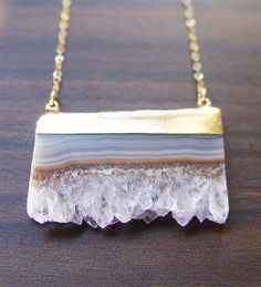 Pastel Stalactite Gold Necklace
