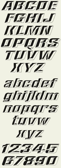 This unique font set allows you to create prismatic-styles easily without any editing of the font itself. Allowing you to cut layers separately from two different colors of vinyl. Also very useful in raster programs such as Photoshop.
