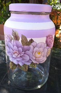 Recycled Glass Bottles, Glass Bottle Crafts, Diy Bottle, Mason Jar Gifts, Mason Jars, Altered Bottles, Bottles And Jars, Pictures To Paint, Recycling