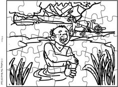 bible coloring pages naaman - photo#21