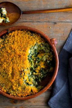NYT Cooking: This is a Provençal style gratin, or tian, dense with greens and bound with rice and egg. You can play around with the mix of greens