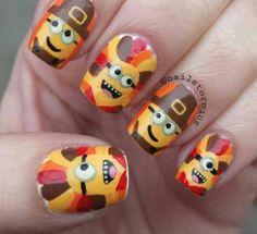 minion thanksgiving nails