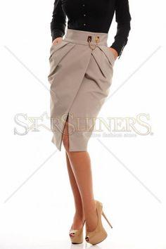 PrettyGirl Wise Blend Cream Skirt