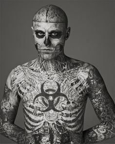 The scientist in me finds these anatomy tattoos fascinating. (Rick Genest)