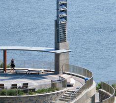 POINTE-NORD   Montreal   Architecture   Interior Design   Evolo   Residential   Exterior   Park Montreal, Architecture Design, Concrete Bench, Park Landscape, Willis Tower, Interiores Design, Building, Park, Architecture Layout