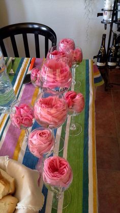 Pink Roses on the glass