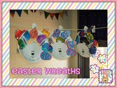 Easter Wreaths made out of paper plates! Simple & easy for your kids!