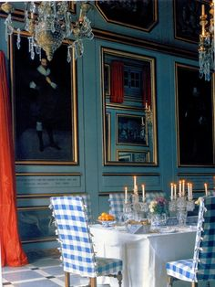 chateau de Groussay, little augury: how they decorated