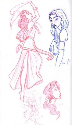 Tzipporah (and Yocheved) from The Prince of Egypt Dreamworks Animation, Disney And Dreamworks, Animation Film, Disney Animation, Amazing Drawings, Cool Drawings, Laika Studios, Prince Of Egypt, People Illustration