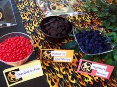candies and treats for the Hunger game party