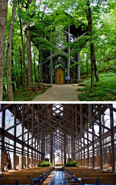 Thorncrown Chapel, Eureka Springs, Arkansas, by E. Fay Jones.