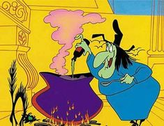 Witch Hazel on Looney Tunes - how I love her.  Especially when she runs, and hairpins scatter in the dust behind her.