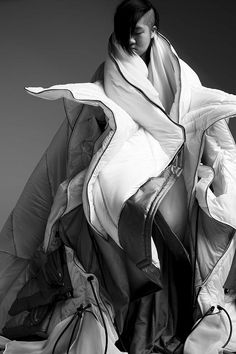Soft sculptural fashion with dramatic layers & 3D volume // Takashi Nishiyama