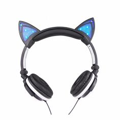 These fun and unique cat ear headphones will give you the style that you're…