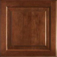 American Woodmark 14-9/16x14-1/2 in. Cabinet Door Sample in Charlottesville Cherry Spice 99855