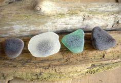 Sea / Beach Glass Magnet Set by BarnWoodArt on Etsy
