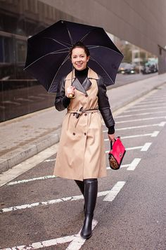 How to dress for a rainy day in a functional way : MartaBarcelonaStyle's Blog